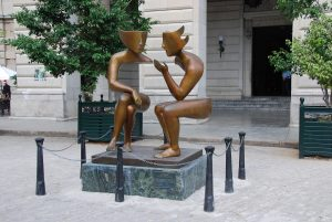 Talking statues
